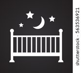 crib icon black white