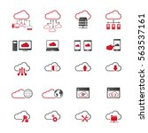 cloud computing icon set.... | Shutterstock .eps vector #563537161
