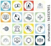 set of 16 business management... | Shutterstock .eps vector #563537851