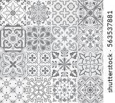big vector set of tiles... | Shutterstock .eps vector #563537881