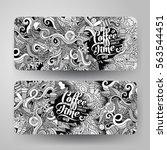 cartoon cute doodles hand drawn ... | Shutterstock .eps vector #563544451