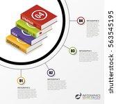 infographics template.... | Shutterstock .eps vector #563545195