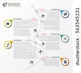 timeline infographics. business ... | Shutterstock .eps vector #563545231
