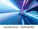 view from side of car moving in ... | Shutterstock . vector #563546785