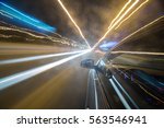 view from side of car moving in ... | Shutterstock . vector #563546941