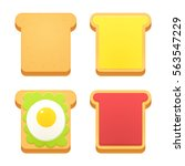 breakfast toast set. slices of... | Shutterstock .eps vector #563547229