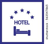 hotel vector icon. | Shutterstock .eps vector #563547865