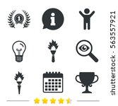 first place award cup icons.... | Shutterstock . vector #563557921