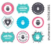 label and badge templates. ship ... | Shutterstock . vector #563561881