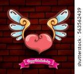 vector happy valentines day...   Shutterstock .eps vector #563562439