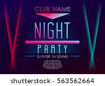 horizontal music party poster... | Shutterstock .eps vector #563562664