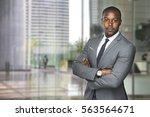 successful black business man... | Shutterstock . vector #563564671