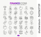 thin line banking and finance...   Shutterstock .eps vector #563565739