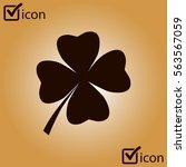 leaf clover sign icon. saint... | Shutterstock .eps vector #563567059