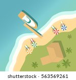 vector a banner with an island... | Shutterstock .eps vector #563569261