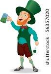 irish man with beer. isolated... | Shutterstock . vector #56357020