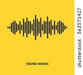 audio signal vector icon. sound ... | Shutterstock .eps vector #563571427