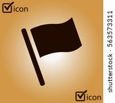 flag icon. location marker...