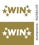 vector win icon set | Shutterstock .eps vector #563582155