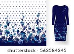 vector seamless pattern of... | Shutterstock .eps vector #563584345