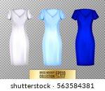 women's dress mockup collection.... | Shutterstock .eps vector #563584381