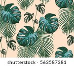 beautiful seamless vector... | Shutterstock .eps vector #563587381