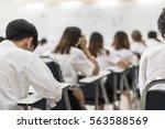 blurred background university... | Shutterstock . vector #563588569