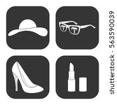 woman's accessories icons... | Shutterstock .eps vector #563590039