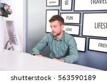 business man working hard in... | Shutterstock . vector #563590189