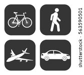 transportation icons vector set ... | Shutterstock .eps vector #563590501
