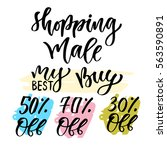 sales calligraphy tag. shopping ... | Shutterstock .eps vector #563590891