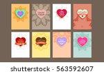 wedding invitation card or... | Shutterstock .eps vector #563592607