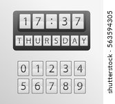 countdown timer  a mechanical... | Shutterstock .eps vector #563594305