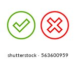 tick and cross signs. green... | Shutterstock .eps vector #563600959