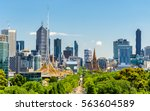 skyline of melbourne from... | Shutterstock . vector #563604589