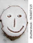 smile  a face drawing in the... | Shutterstock . vector #563607115