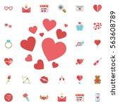 red valentine heart icon. love...   Shutterstock .eps vector #563608789