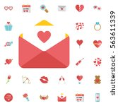 love letter icon. icon email... | Shutterstock .eps vector #563611339