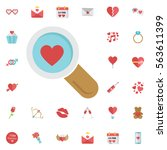 Search Heart And Love Icon ...