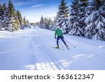 cross country skating | Shutterstock . vector #563612347