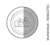 bike isolated symbol   Shutterstock .eps vector #563612761