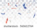 defocused white red and blue... | Shutterstock .eps vector #563612764