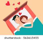 people in love  vector... | Shutterstock .eps vector #563615455