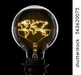 clean and shiny lightbulb with...   Shutterstock . vector #563620075