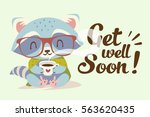 vector get well soon... | Shutterstock .eps vector #563620435