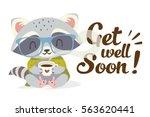 vector get well soon... | Shutterstock .eps vector #563620441