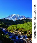 View Of Mount Rainier On A...