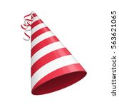 red party hat  isolated on... | Shutterstock .eps vector #563621065
