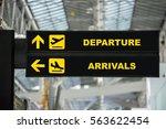 airport departure   arrival... | Shutterstock . vector #563622454