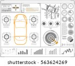 futuristic user interface.... | Shutterstock .eps vector #563624269